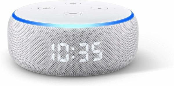 Amazon Echo Dot (3rd Generation) с часовник