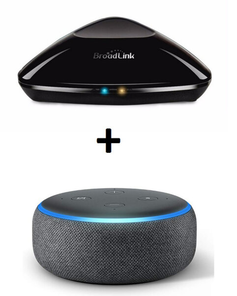 Комплект Amazon Echo Dot (3rd Generation) + BroadLink RM Pro