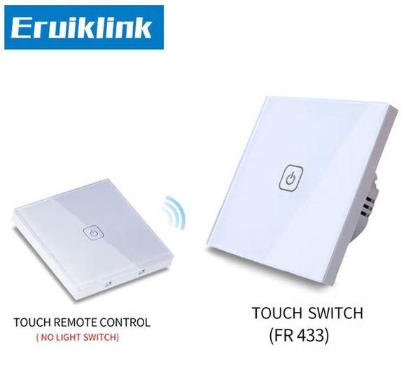 Eruiklink -Сензорен ключ с RF433MHz управление + панел за дистанционно управление