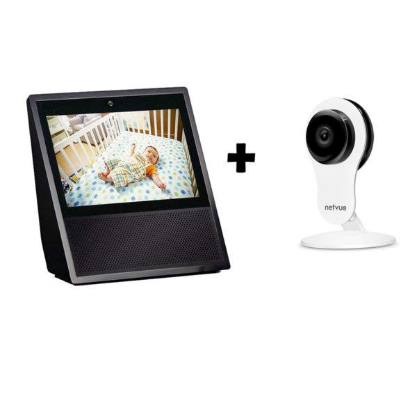 Комплект Amazon Echo Show + Netvue вътрешна камера