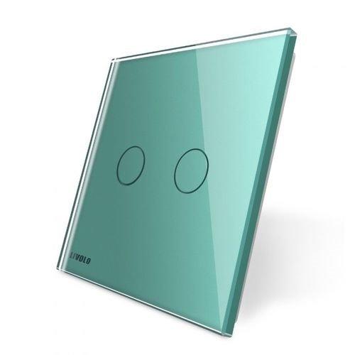 LIVOLO - 702-61-Панел кристално стъкло, 2 точки, 80mm*80mm, EU