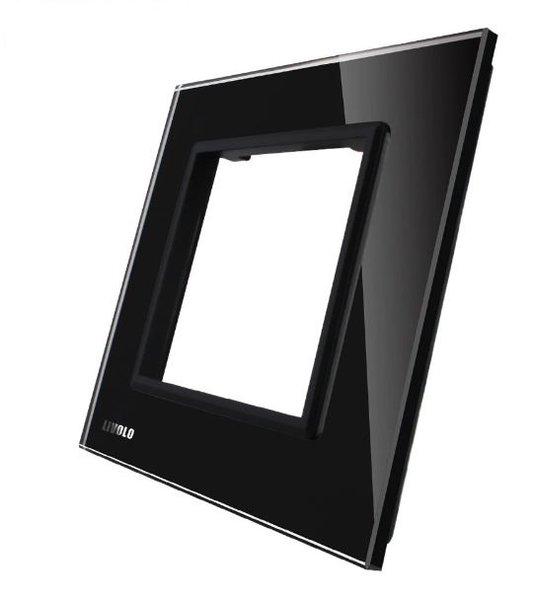 LIVOLO - GPF-1-61-Панел кристално стъкло, 1 гнездo контакт, 80mm*80mm, EU