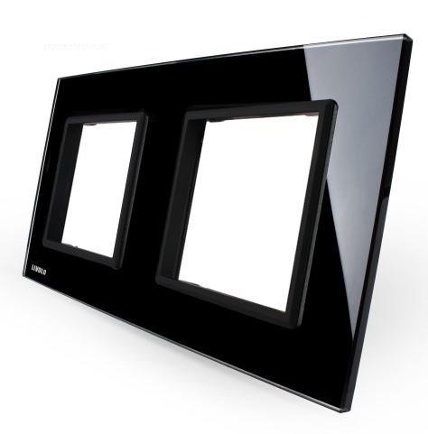 LIVOLO - GPF-2-61-Панел кристално стъкло, 2 гнезда контакт, 151mm*80mm, EU