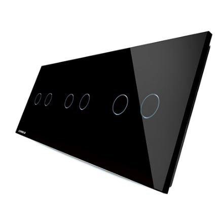 LIVOLO - 70222-61-Панел кристално стъкло, 6 точки, 223mm*80mm, EU
