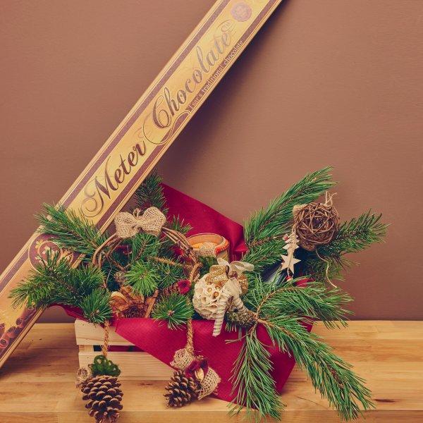 """Коледна кошница """"Шоколад"""""""
