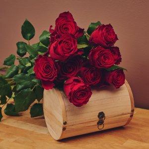 """Букет """" Рози с панделка"""""""