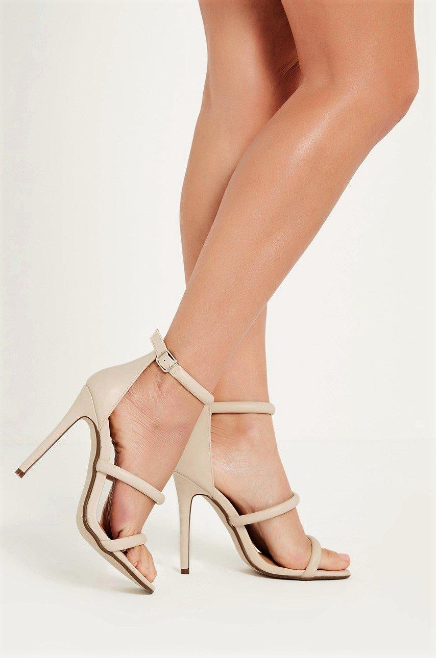 Бежови сандали с каишки RONY