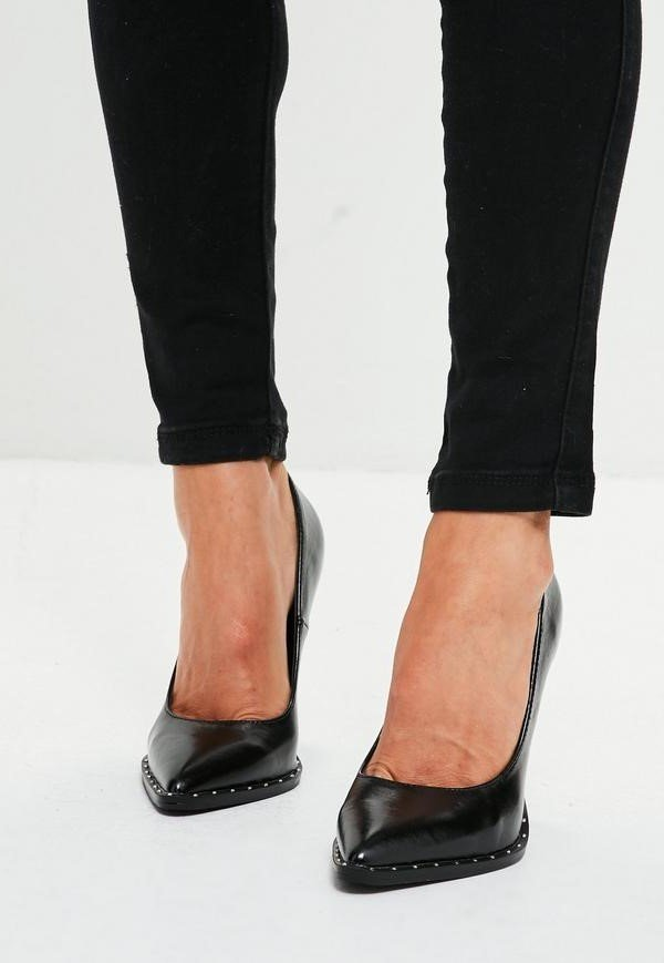 Черни обувки с шипчета MIA