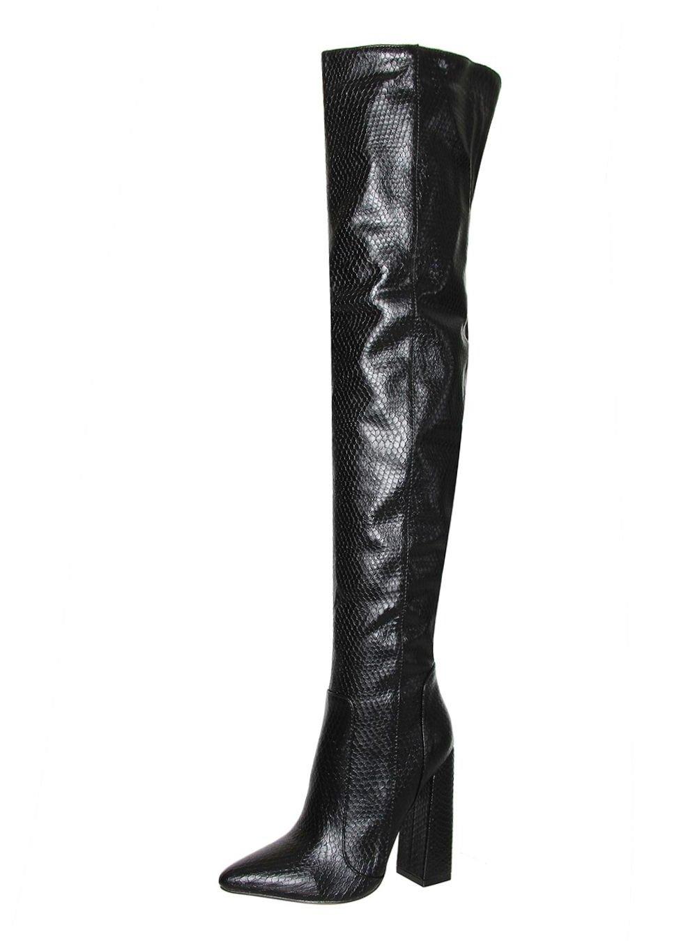 Високи ботуши на ток BLACK MAMBA - Limited Edition