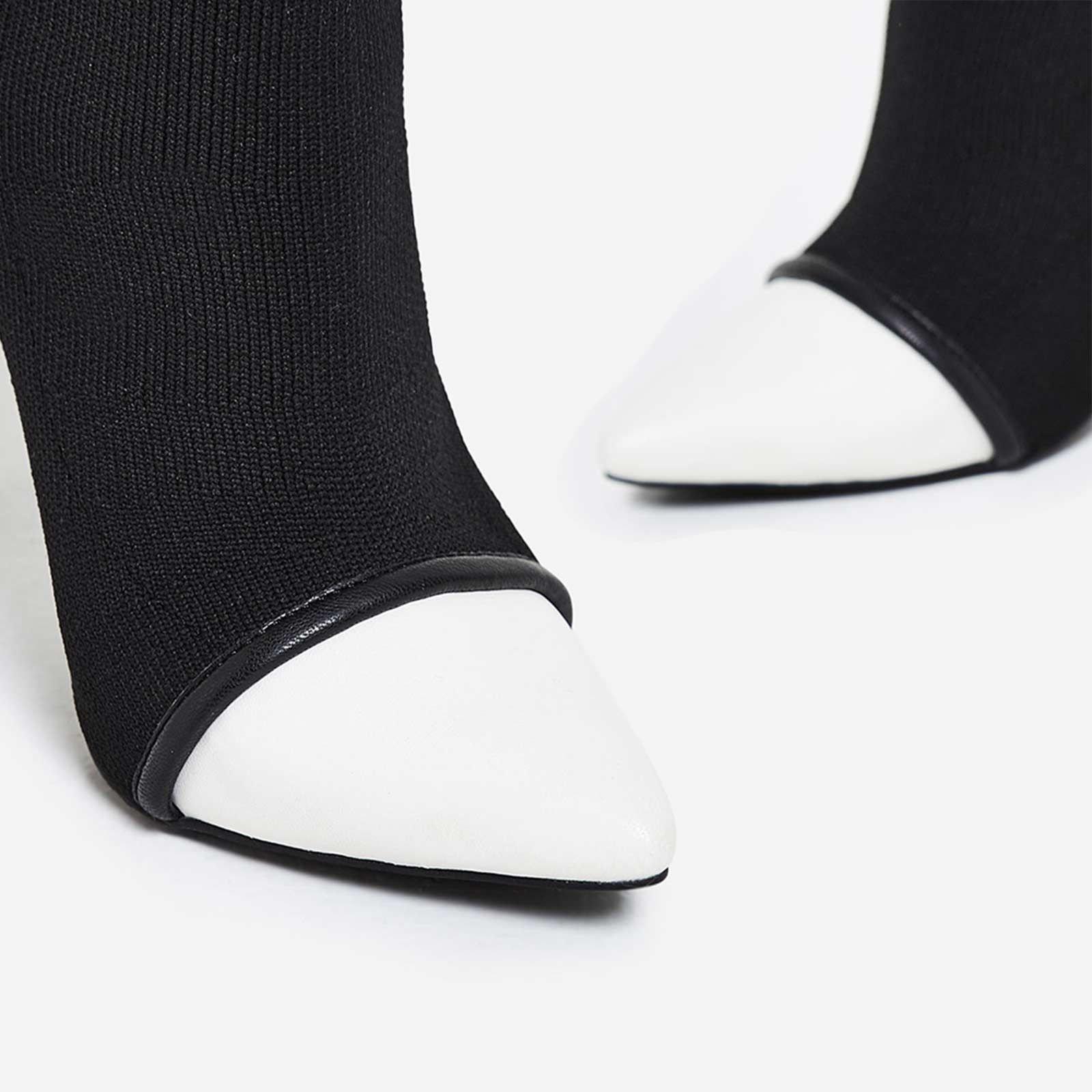 Високи ботуши тип чорап NORMA - черен