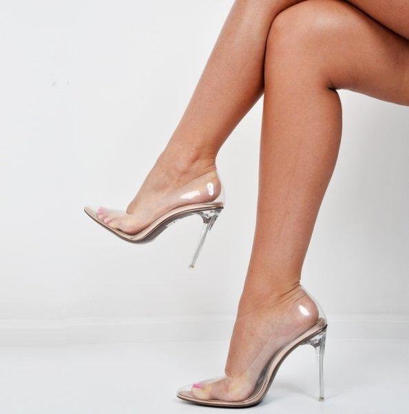 PVC Прозрачни обувки на ток KIM