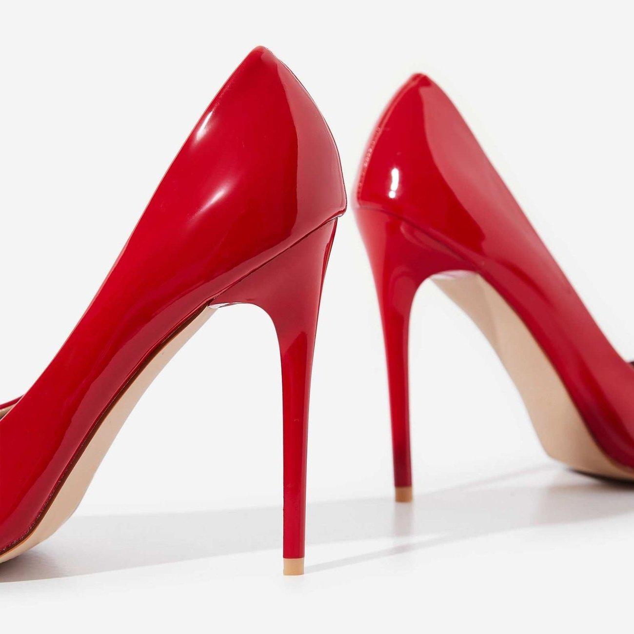 Червени лачени обувки FIERCE