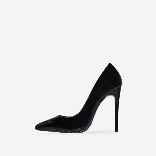 Черни лачени обувки FIERCE
