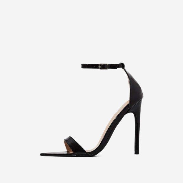 Черни лакирани сандали Hailey