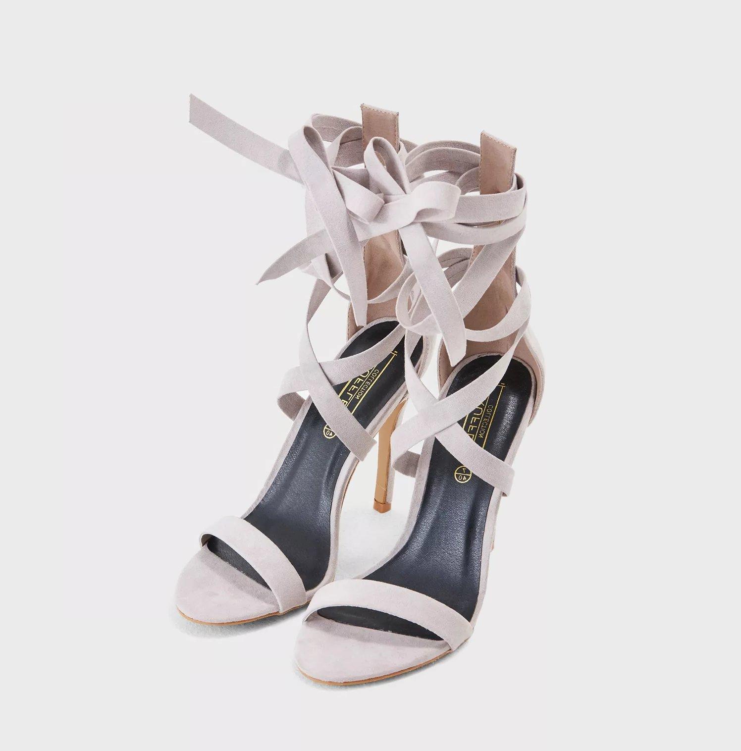 Телесни лакирани сандали Hailey