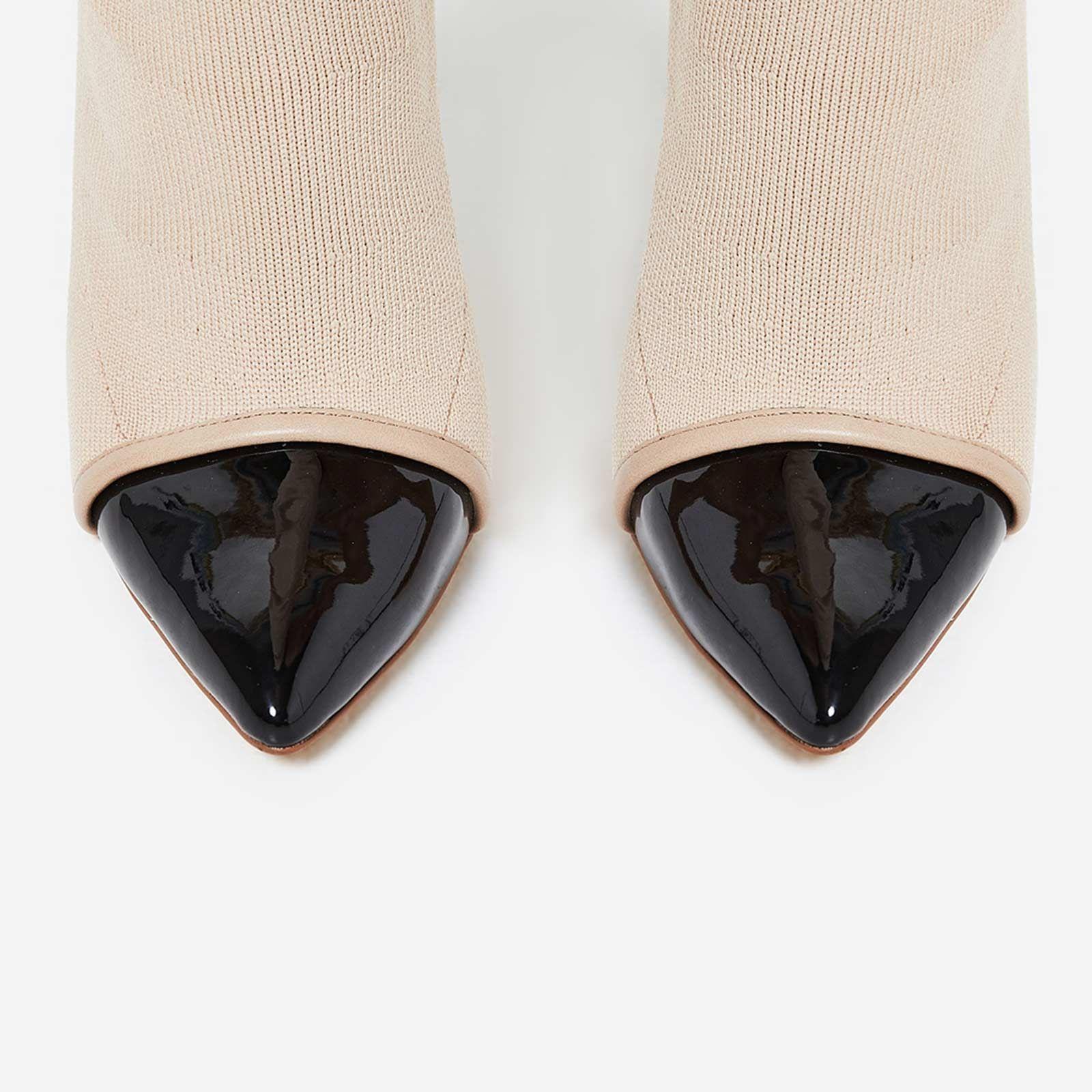 Високи ботуши тип чорап NORMA - бежов