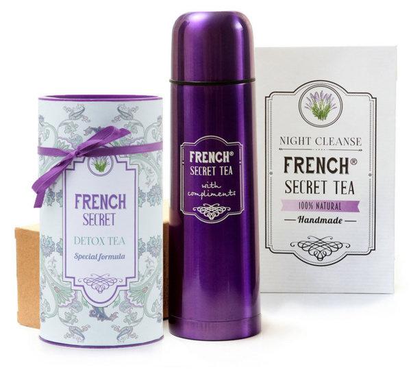 КОМПЛЕКТ FRENCH SECRET TEA DETOX + NIGHT CLEANSE + ТЕРМОС
