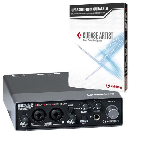 Steinberg UR22C + Steinberg Cubase Artist Upgrade from Cubase AI