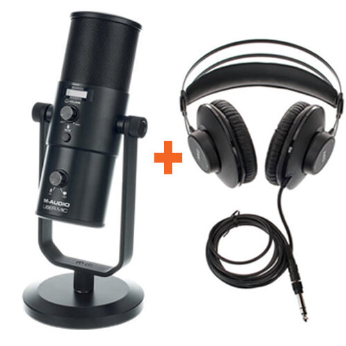 Podcast Bundle - M-Audio Uber Mic & AKG K52 Headphones