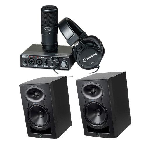 Steinberg UR22C Recording Pack + Kali Audio LP-6 Monitors (Pair) Bundle