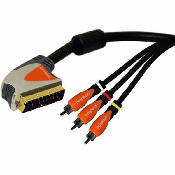 Bespeco SLSR - SCART Male - 3xRCA Male