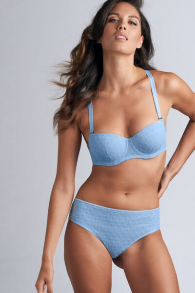 """Сутиен Marlies Dekkers """"Petit Point"""" Blue and Silver- 353101"""