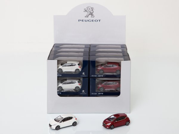 Количка 208 GTI 3 Inches Бяла И Червена