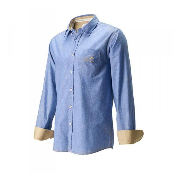 Риза Chambray DKR - Мъжка, Синя