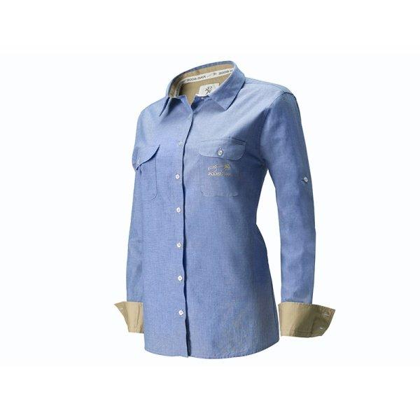 Риза Chambray DKR - Дамска, Синя
