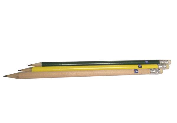 Молив Обикновен, с покритие в жълт, зелен цвят или натурално дърво