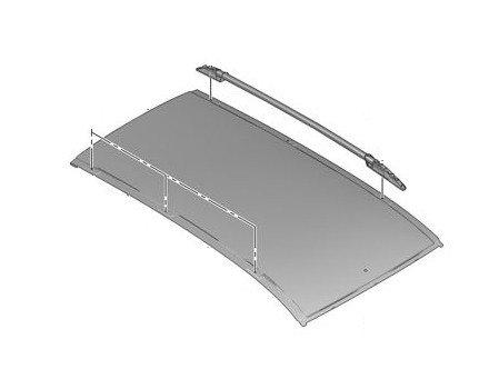 Надлъжна рейка – багажник таван, лява  – Partner (Tepee) (B9) (след 2008)