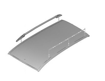Надлъжна рейка – багажник таван, дясна  – Partner (Tepee) (B9) (след 2008)