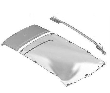 Надлъжна релса за багажник, лява - 308 ESTATE - LEISURE с прозорец на таван;  308 ESTATE 5 вр. с прозорец на таван