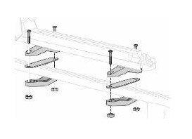 Монтажен комплект за Багажник за Ски към Стоманени. релси DELUX THULE