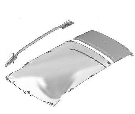 Надлъжна релса за багажник, дясна - 308 ESTATE - LEISURE с прозорец на таван;  308 ESTATE 5 вр. с прозорец на таван