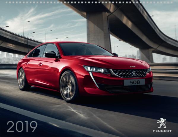 Стенен календар PEUGEOT 2019
