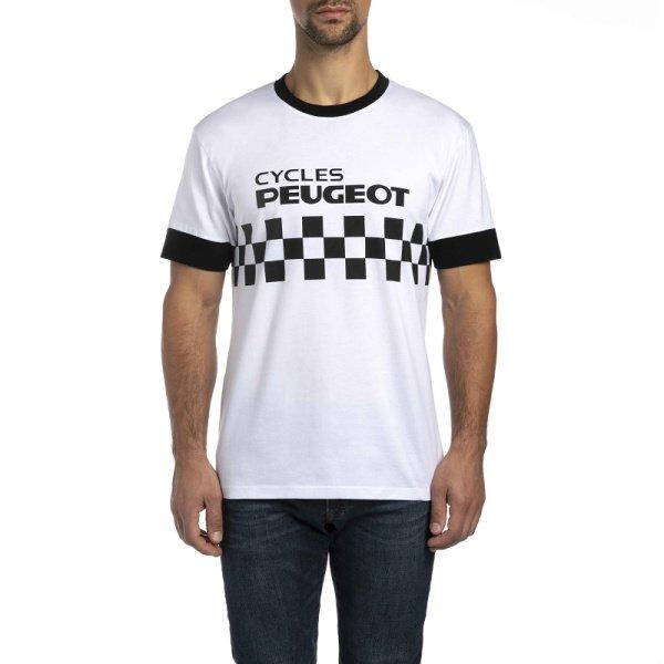 Тениска с Къс Ръкав, Мъжка, Peugeot Legend Cycles Damier