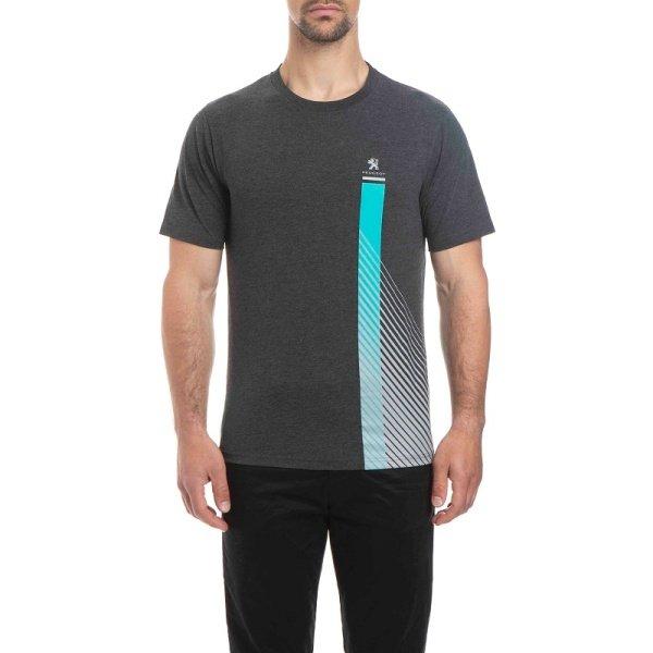 Тениска с Къс Ръкав MC, Peugeot 208, Мъжка, Антрацит