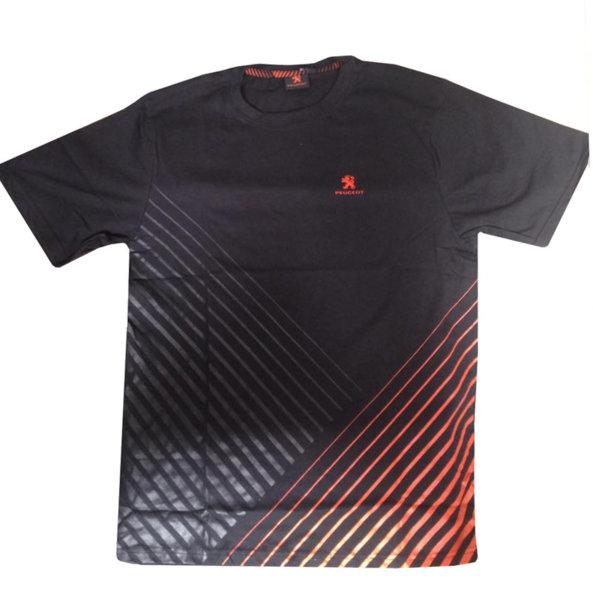Тениска с Къс Ръкав P24, Peugeot 2008, Мъжка, Черна