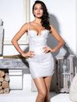 Сребриста бляскава рокля Матилда