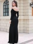 Дълга рокля с голи рамене Клементина