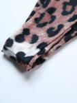 Кафяв бански Теа в леопардов принт