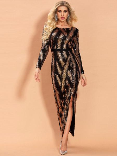 Миди пайетена рокля Аделина