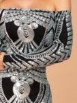 Дълга официална рокля Анина с панделка на рамото-Copy