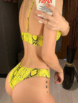 Жълт бански Теа със спортен тип горнище-Copy