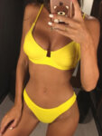 Бански сет Елора в жълт цвят