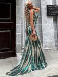 Дълга пайетена рокля Тенерис
