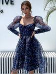 Черна пайетена рокля Даника-Copy