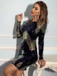 Мини рокля Мабел с шарени пайети-Copy