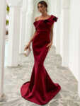 Дълга официална черна рокля с пайети Алена-Copy